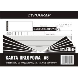Druk Karta Urlopowa A6 (01131)