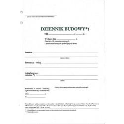 Druk Dziennik Budowy A4...