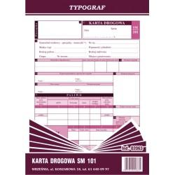 Druk Karta Drogowa SM 101...