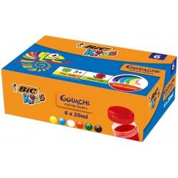 Farby plakatowe BIC 6 kolorów