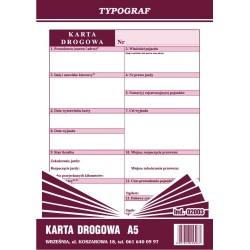 Druk Karta Drogowa A5 (02003)
